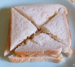Peanut butter and onion sandwiches