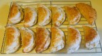 A tray of pumpkin pasties cooling down.