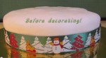 Give a Store Bought Christmas Cake a Retro Look