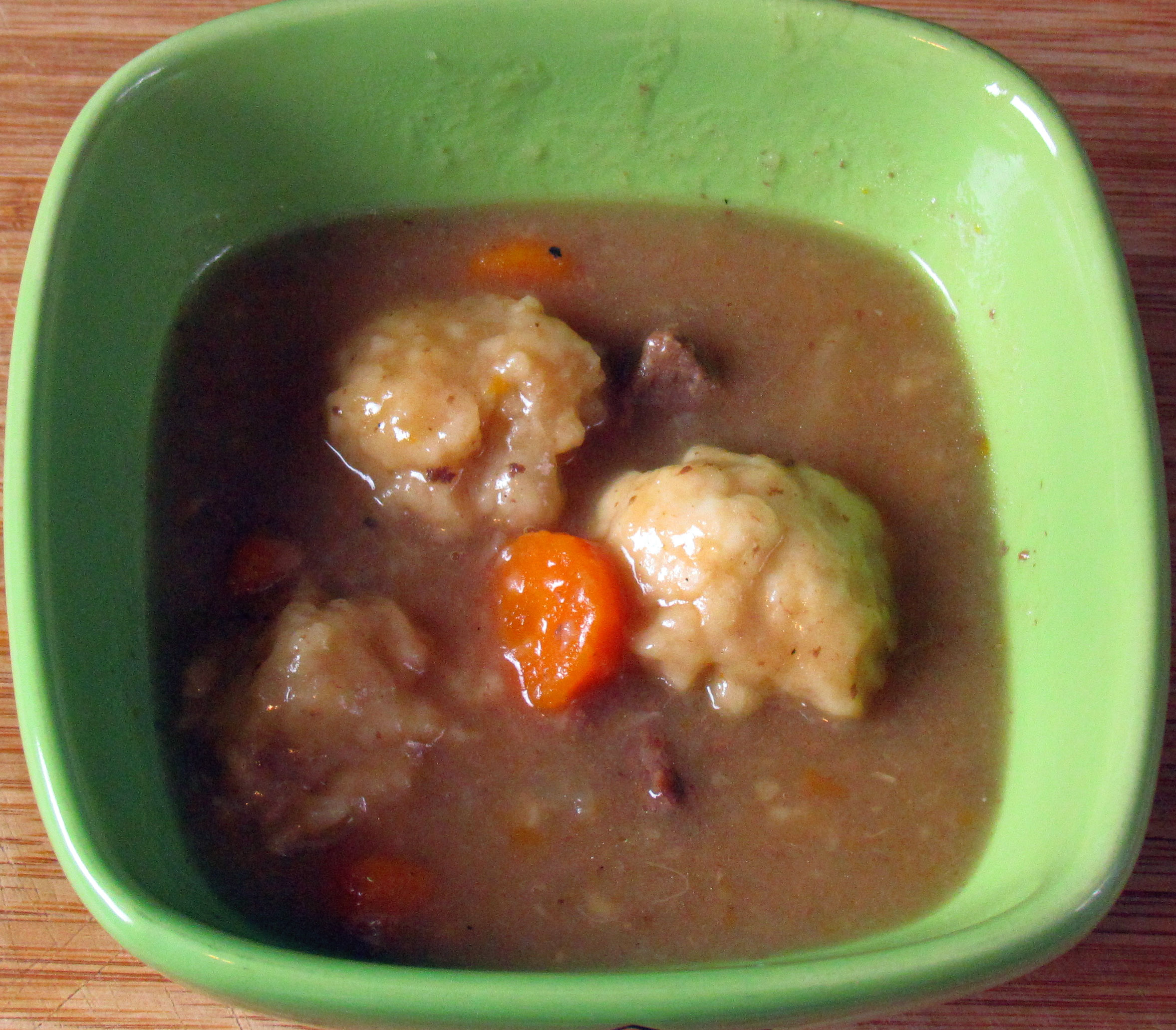 Basic beef stew with dumplings